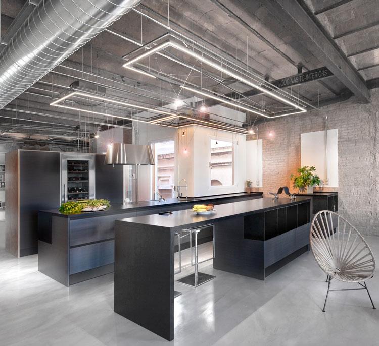 diseño interior y suministro de muebles de cocinas TC-Interiors en Gran Via de Barcelona