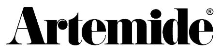 Logo de fabricante de luminarias Artemide